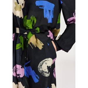 Essentiel Antwerp Achievement Long Sleeve Print Dress Army Navy/Multi