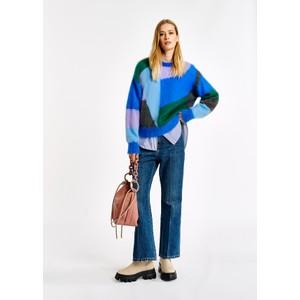 Essentiel Antwerp Agadir Intarsia Sweater Turquoise Waters/Multi