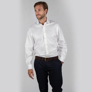Greenwich Classic Shirt White Diagonal