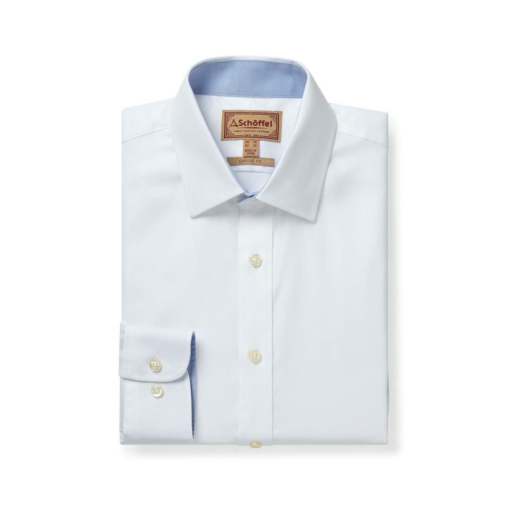 Schoffel Country Greenwich Classic Shirt White Diagonal
