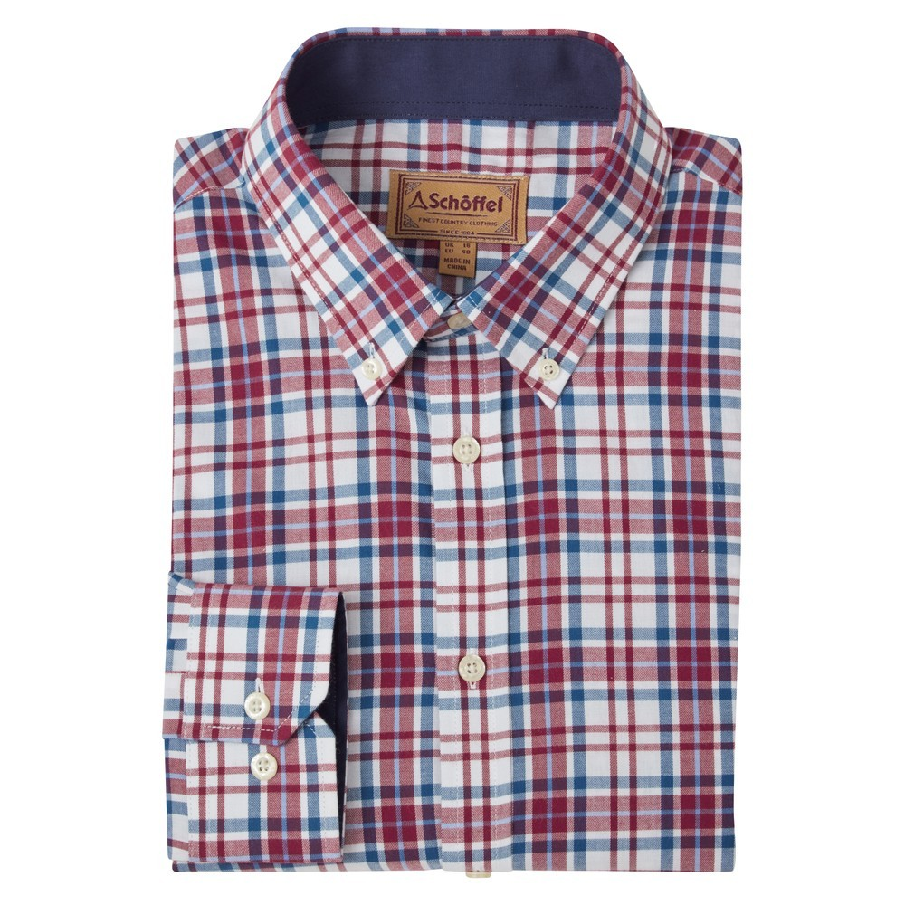 Schoffel Country Healey Tailored Shirt Bordeaux