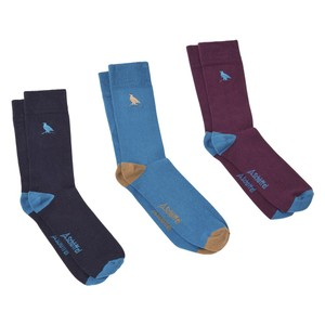 Schoffel Country Ladies Bamboo Socks-3 Pack in French Partridge Atichoke Mix