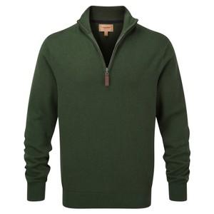 Cotton Cashmere 1/4 Zip Racing Green