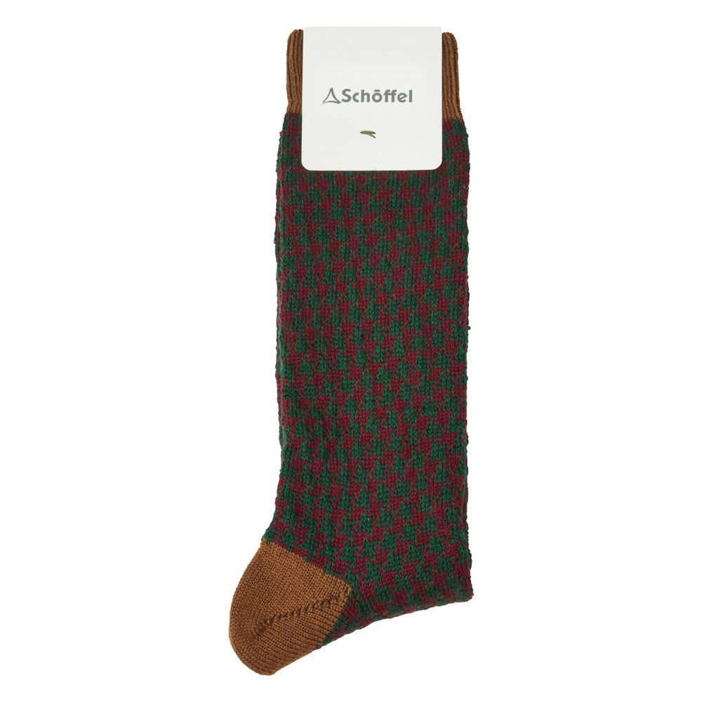 Schoffel Country Houndstooth Socks Toffee