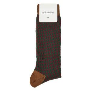 Houndstooth Socks Toffee