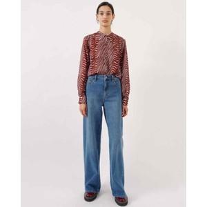 Nini Straight Leg Jeans Blue Washed Denim