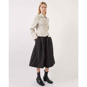 Sui Stretch Waist Midi Skirt Black