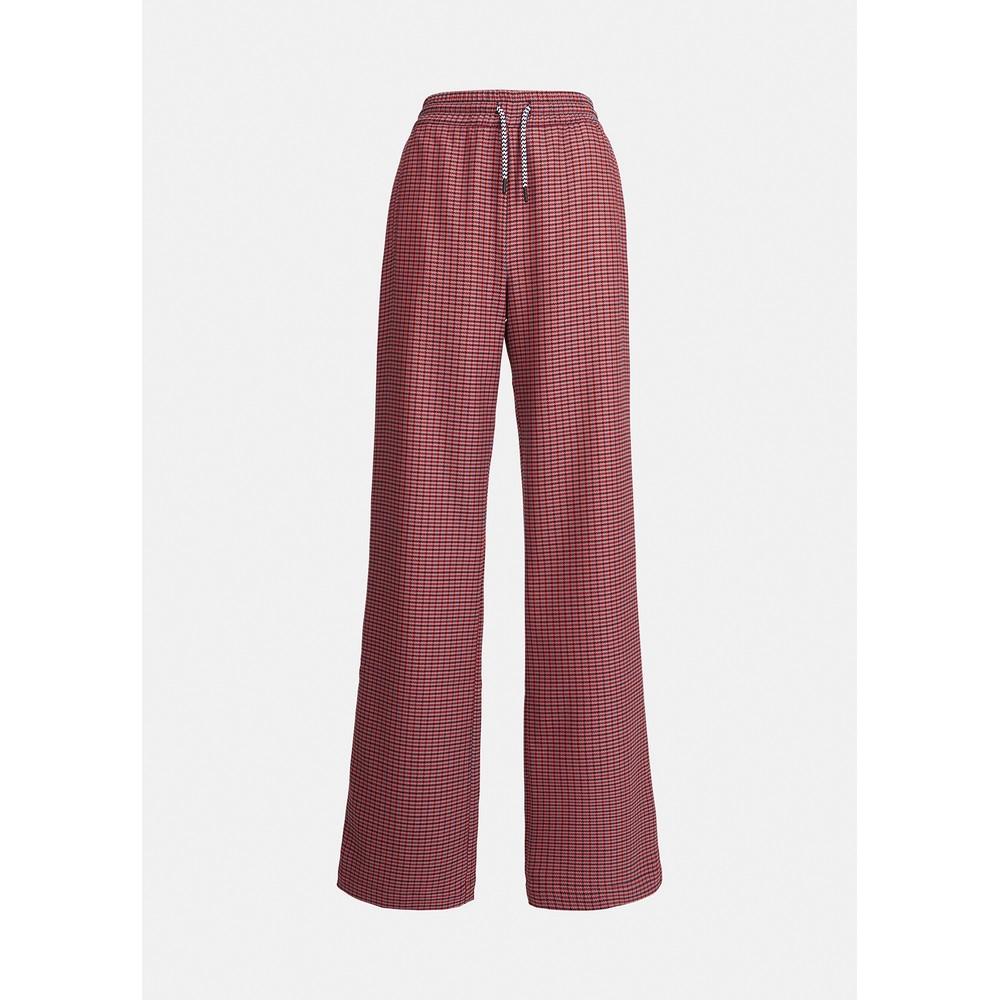 Essentiel Antwerp Axe Dogtooth Wide Trouser Powder Pink