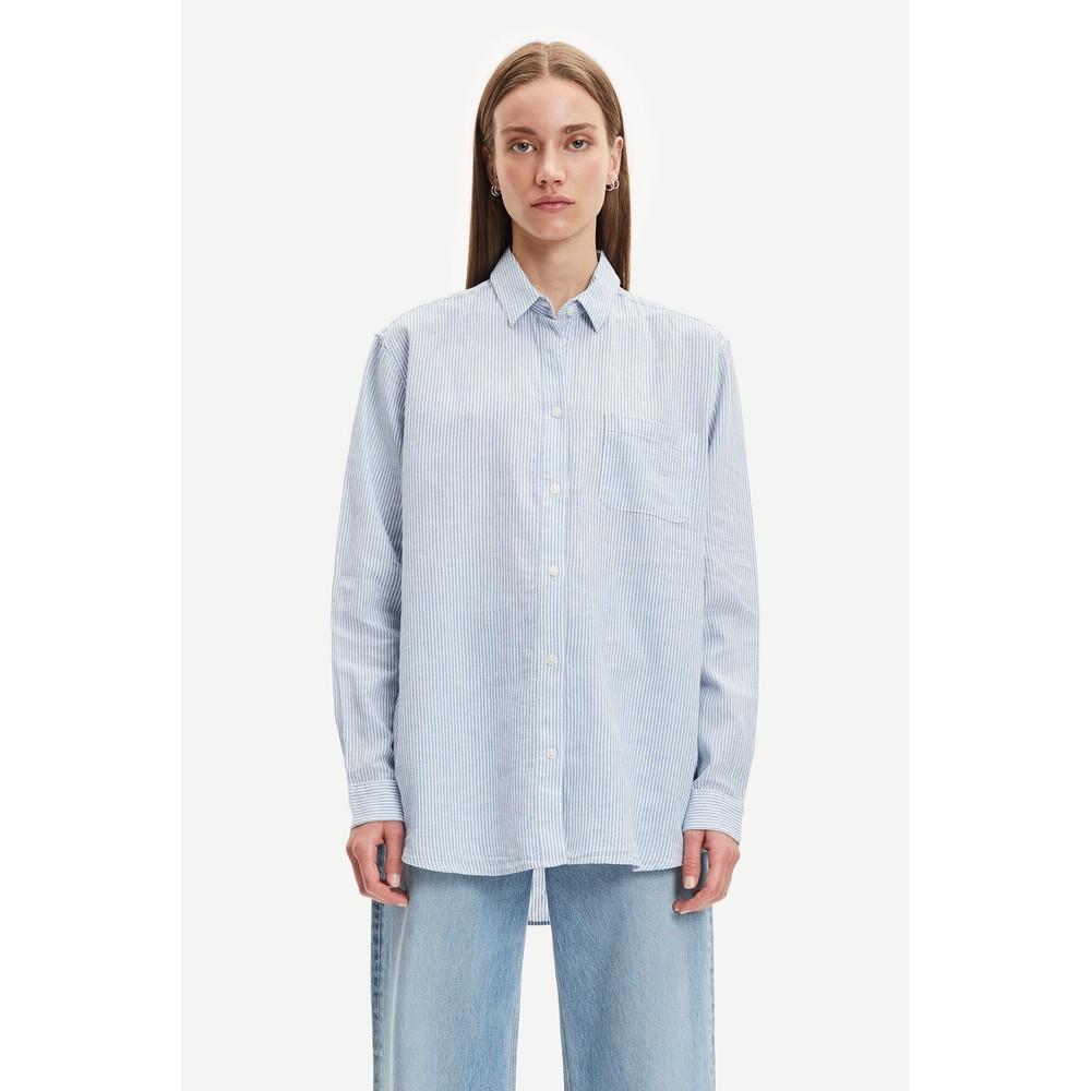 Samsoe Samsoe Caico Stripe Pocket Shirt White Stripe
