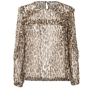 Panda Leopard Sheer Top Sand