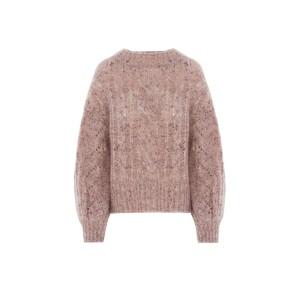 Sfizio Baldo Loose Cable Knit Jumper Dusty Pink