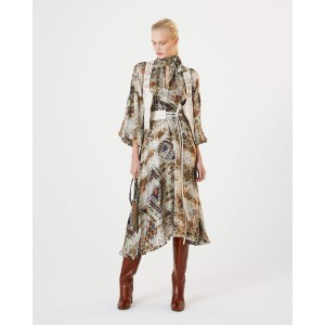 Kilim Printed Bln Slv Dress Beige/Multi