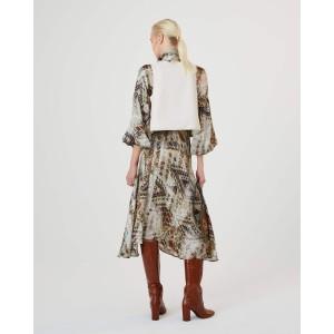 Sfizio Kilim Printed Bln Slv Dress Beige/Multi