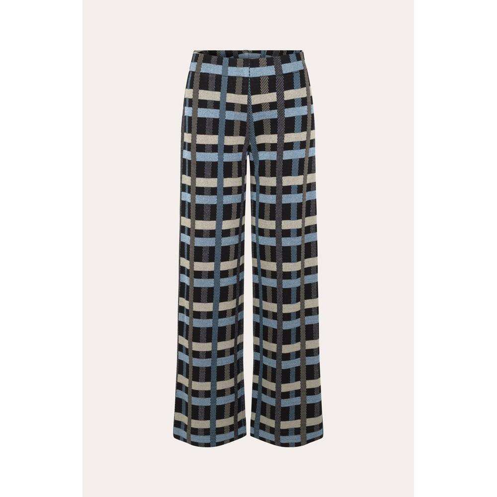 Stine Goya Magic Check Wide Trouser Black/Multi