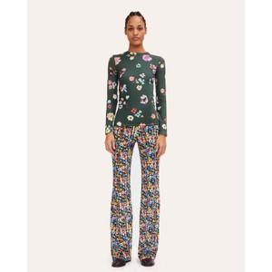 Andy Floral Velvet Trousers Flower Euphoria