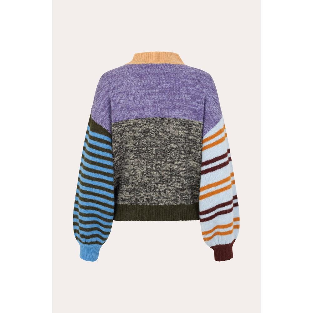 Stine Goya Adonis Patchwork Jumper Purple/Multi