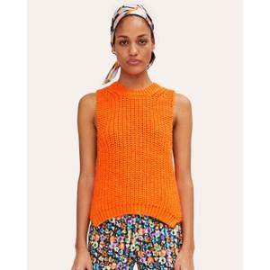 Annemarie Chunky Knit Vest Orange