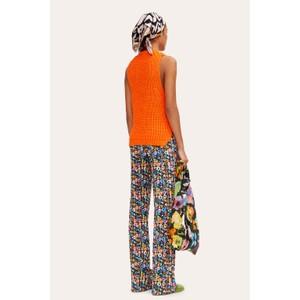 Stine Goya Annemarie Chunky Knit Vest Orange