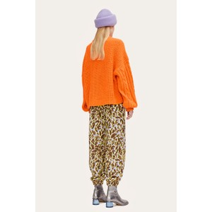 Stine Goya Scharla Chunky Knit Jumper Orange