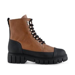 Rebel Long Lace Up Boot Tan