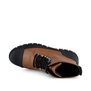 Shoe The Bear Rebel Long Lace Up Boot Tan