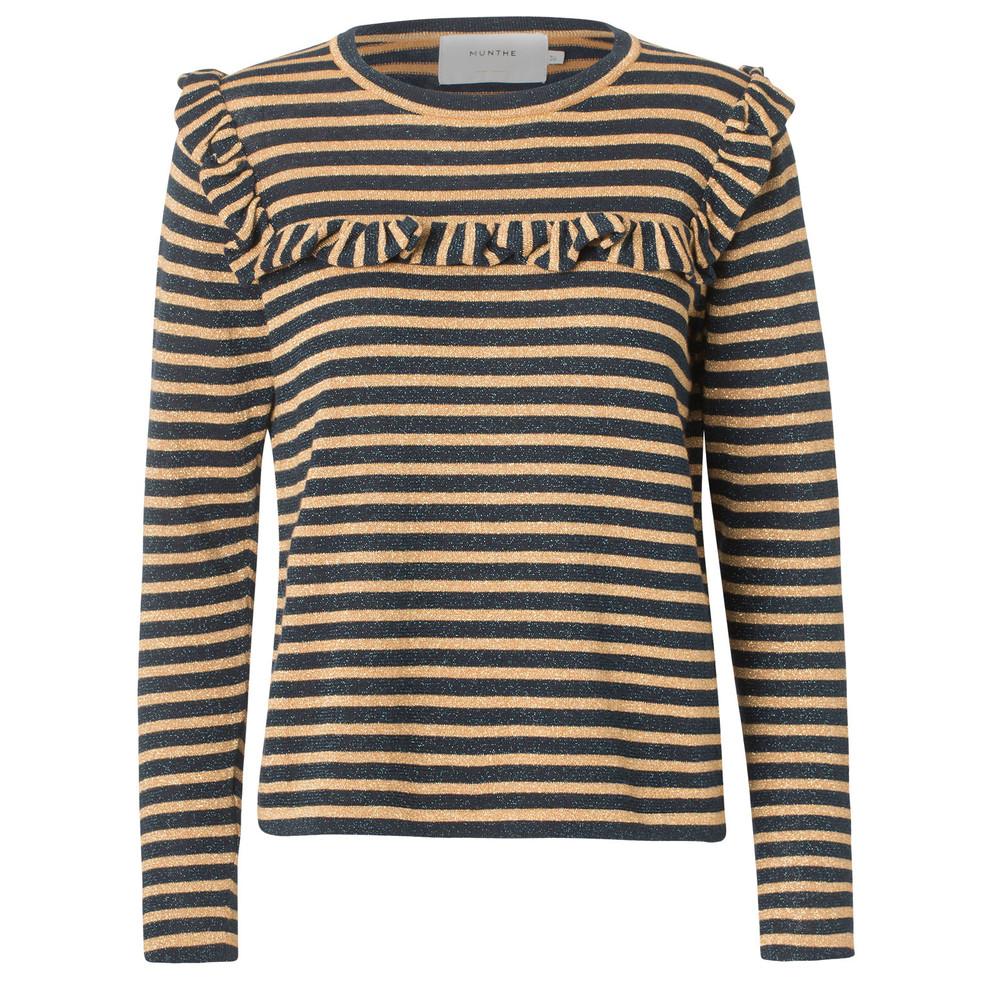 Munthe Providence Stripe Knit Jumper Indigo/Gold