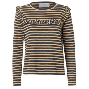 Providence Stripe Knit Jumper Indigo/Gold