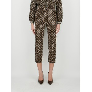 Maesa Flower Print Trousers Black/Multi