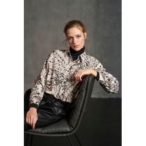 Luisa Cerano Printed Boxy Blouse Ecru/Black