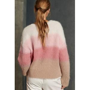 Luisa Cerano Scoop Neck Blend Jumper Pink/Cream/Multi