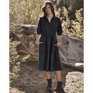 Josie Shirt Dress Black
