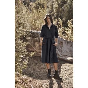 Velvet Josie Shirt Dress Black