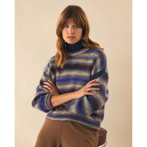 Mona Stripe Fine Knit Jumper Blue/Multi