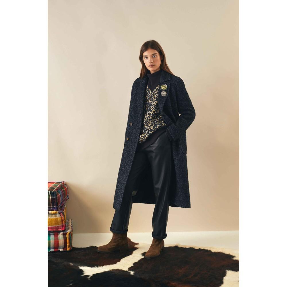 Leon & Harper Sozey Leopard Sweatshirt Black/Beige