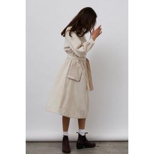 Lollys Laundry Karlo Long Sleeve Cord Dress Creme