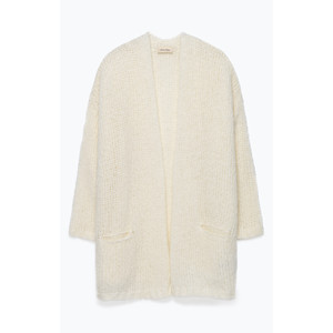 Boolder Open Cardi Mother of Pearl