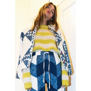 Lollys Laundry Terry Stripe Jumper Yellow