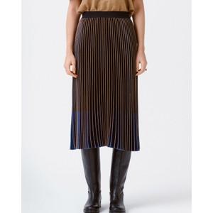 Rhyme Long Pleated Skirt Indigo