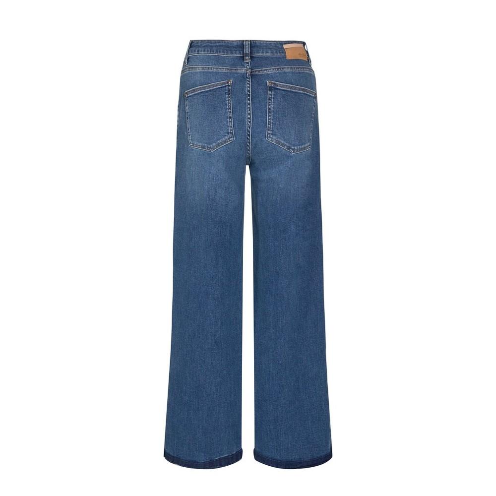 Mos Mosh Reem Vera Wide Leg Jean Blue Regular