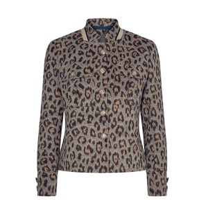 Mos Mosh Selby Dash Animal Print Jacket Ombre Blue