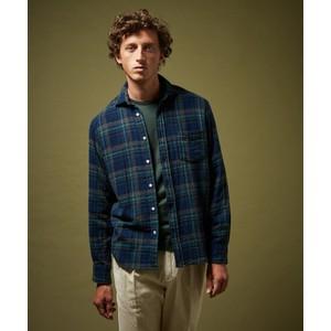 Paul Multi Check Shirt Navy/Green