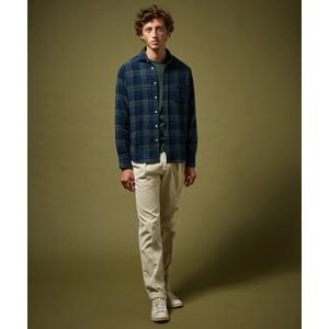 Hartford Paul Multi Check Shirt Navy/Green