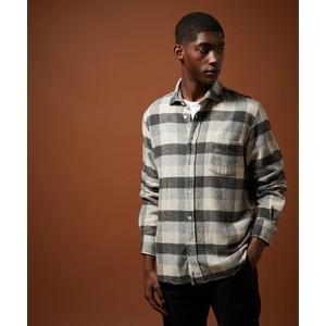 Paul Large Check Shirt Grey/Beige