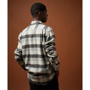 Hartford Paul Large Check Shirt Grey/Beige