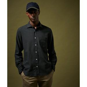 Paul Small Check Shirt Dark Green/Navy