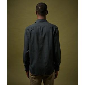 Hartford Paul Small Check Shirt Dark Green/Navy
