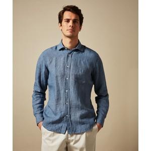 Paul Woven Cotton Shirt Denim Blue