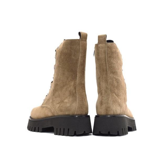 Alpe Chunky Sole Lace Up Boot Khaki