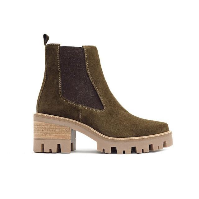 Alpe Chunky Heeled Chelsea Boot Olive