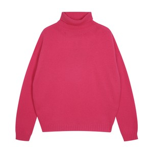 Exposed Roll Collar Neon Pink